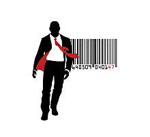 Agent 47 Barcode Photographic Print