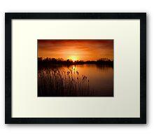 Orange Lake Dusk Framed Print