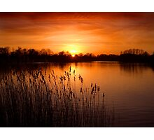 Orange Lake Dusk Photographic Print