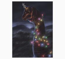 Brachiosaurus Christmas Tree Kids Tee
