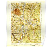 USGS TOPO Map New Hampshire NH Claremont 329966 1929 62500 Poster