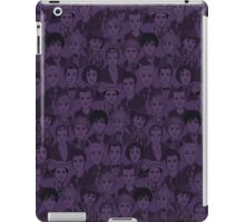 Dr. Who Characters The Doctors - Purple iPad Case/Skin