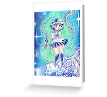 Sailor Mercury Colored Pencil Greeting Card