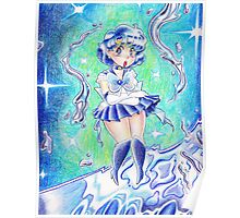 Sailor Mercury Colored Pencil Poster