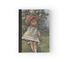 Little Girl At Play-Available As Art Prints-Mugs,Cases,Duvets,T Shirts,Stickers,etc Hardcover Journal