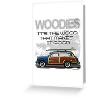 Woody Wagon Greeting Card