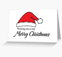 Santa Hat Merry Christmas Greeting Card