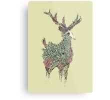 Beautiful Deer Old Metal Print