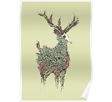 Beautiful Deer Old Poster