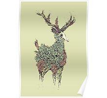 Beautiful Deer Old Poster