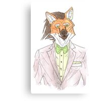 Anthro maned wolf / fox Canvas Print