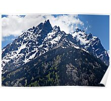 Grand Teton Blue Sky Peak Poster