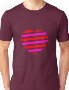 Heart; Gestreiftes Herz Unisex T-Shirt