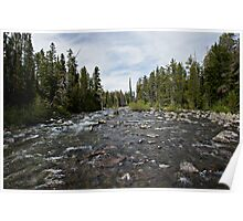Grand Tetons Stream Poster