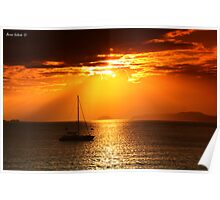 Sunset Rays - Rayos del Atardecer Poster