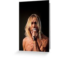Iggy Pop 7 Greeting Card