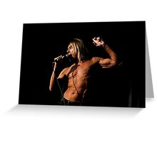 Iggy Pop 8 Greeting Card