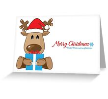 Little Reindeer Christmas Wishes Greeting Card