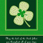 Luck of the Irish, St. Patrick's Day Whimsical Shamrock  by NestToNest