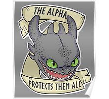 Toothles - The Alpha Protects Them All Poster
