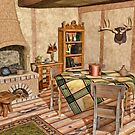 Humble Rustic Home - Country Cottage Interior by Liam Liberty