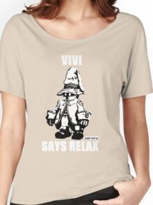 Vivi Says Relax - Monochrome White Women's Relaxed Fit T-Shirt