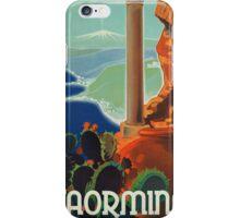 Vintage poster - Taormina iPhone Case/Skin