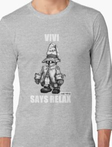 Vivi Says Relax - Sketch Em Up - White Long Sleeve T-Shirt