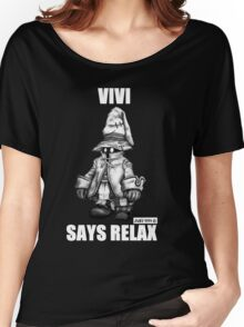 Vivi Says Relax - Sketch Em Up - White Women's Relaxed Fit T-Shirt