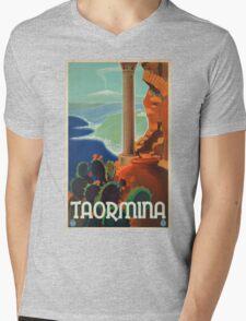Vintage poster - Taormina Mens V-Neck T-Shirt