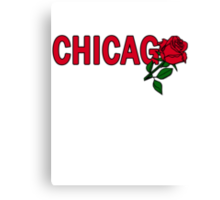 Chicago Rose│Red Canvas Print