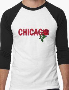 Chicago Rose│Red Men's Baseball ¾ T-Shirt