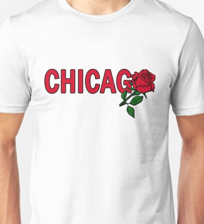 Chicago Rose│Red Unisex T-Shirt