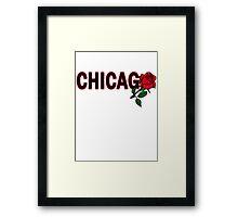 Chicago Rose│Black Framed Print
