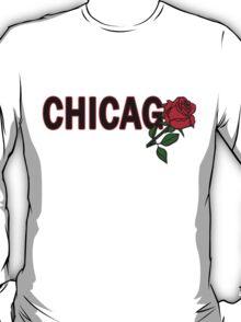Chicago Rose│Black T-Shirt