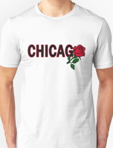 Chicago Rose│Black Unisex T-Shirt