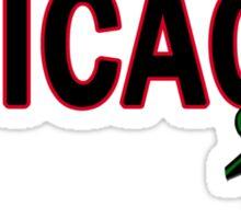 Chicago Rose│Black Sticker