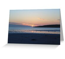 """ Tra'igh Lingeigh Sunset "" Greeting Card"