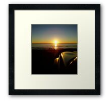 Playing in the evening light Framed Print