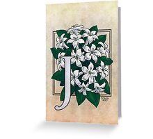 J is for Jasmine Greeting Card