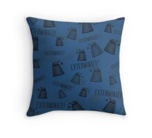 Daleks - Blue Throw Pillow