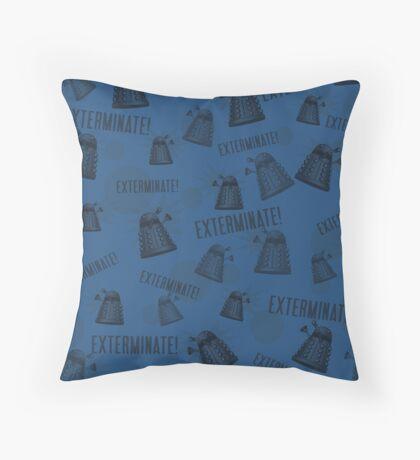 Daleks - Blue Throw Pillow