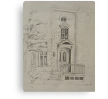 Doorway of a Town House  Canvas Print