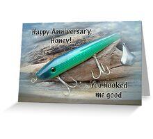 Anniversary Greeting Card - Saltwater Lure Greeting Card