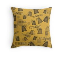 Daleks - Yellow Throw Pillow