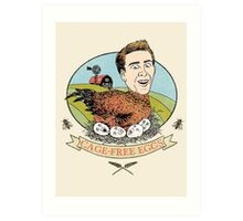 Cage-Free Eggs Art Print