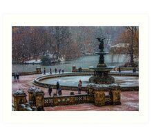 Central Park, The 30 Minute Snow Storm Art Print