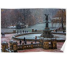 Central Park, The 30 Minute Snow Storm Poster