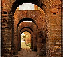 Arches of Palatine Hill, Rome by LaRoach