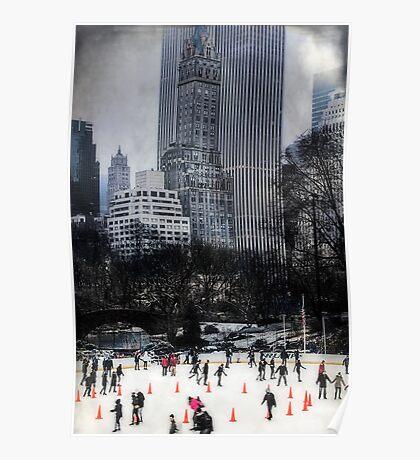 Skating In Gotham Poster